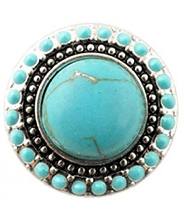 Interchangeable 18mm Snap Jewelry Turquoise Snap Halo by My Gifts - CK1827Q9S9Z