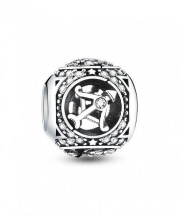 Glamulet Jewelry 925 Sterling Silver Horoscope Zodiac Birthstone Bead Charm Fits Pandora Bracelet - Capricorn - CV12NV5D4KT