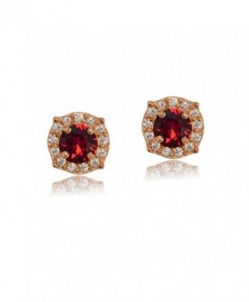 Flashed Sterling Earrings Swarovski Crystals in Women's Stud Earrings