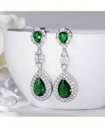 SELOVO Emerald Vintage Zirconia Earrings