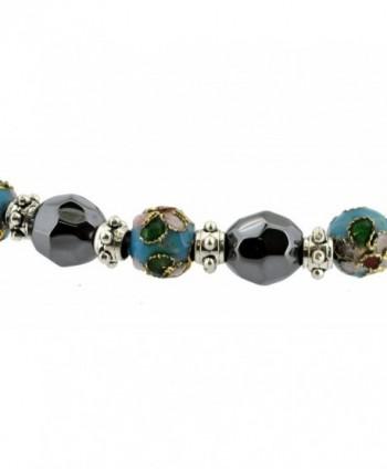 Magnetic Cloisonne Simulated Hematite Bracelet