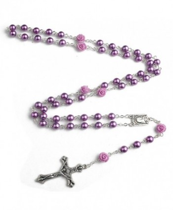 Hedi Purple Color Rosary Facther in Women's Strand Necklaces