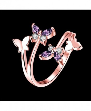YEAHJOY Adjustable Butterfly Austrian rose gold plated base
