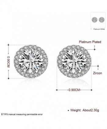 Plated Earrings Zirconia Crystal Earring in Women's Stud Earrings
