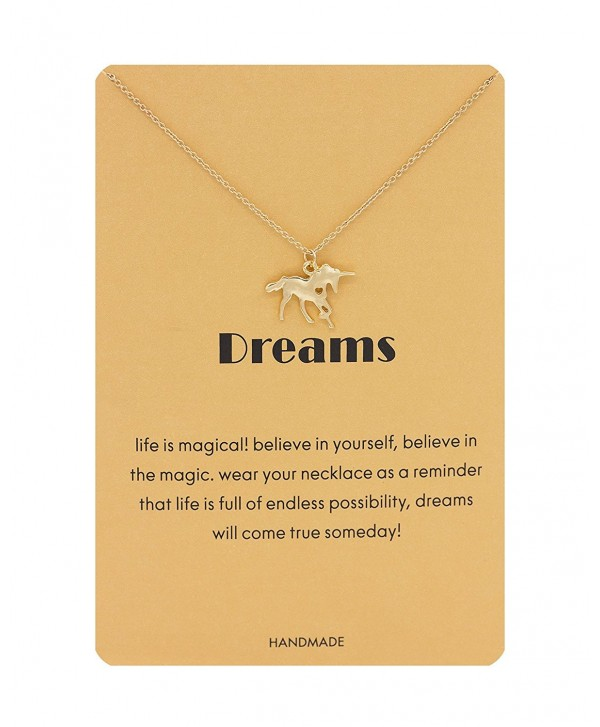 Hanloud Message Animal Pendant Necklace Unicorn Snowflake Luck Elephant Dangle Y Necklace Jewelry - gold - C7188006CY6