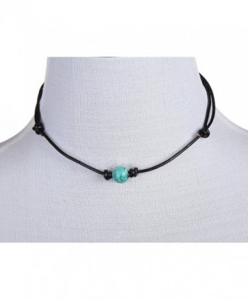 Barch Turquoise Necklace Leather Adjustable