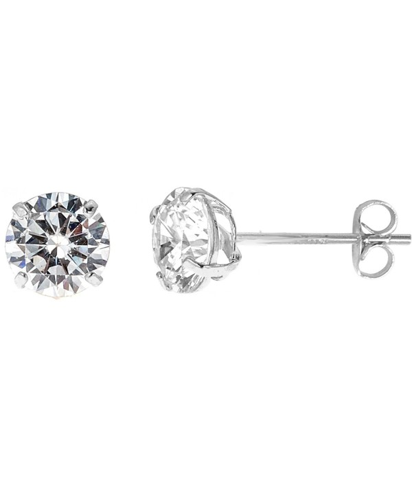 14k Yellow-White or Rose Pink Gold Cubic Zirconia Stud Single Earring (3mm-4mm-5mm-6mm-7mm-8mm) - CC186RQMZZS