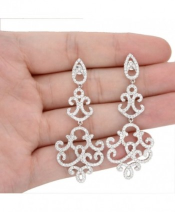EVER FAITH Sterling Zirconia Chandelier in Women's Drop & Dangle Earrings