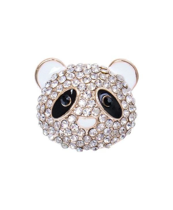 Happy Source Valentines Jewelry Australian Crystal Cute Chinese Panda Shaped Brooch Pin - CG12EQ66QHL