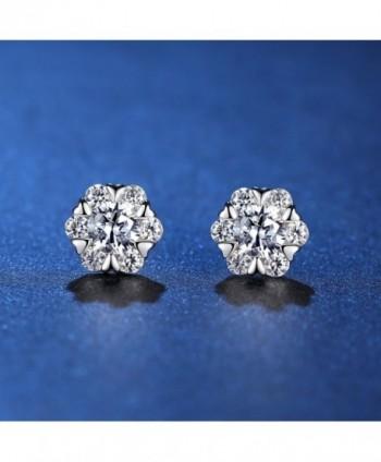 anewish Zirconia Sterling Silver Earrings