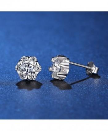 anewish Zirconia Sterling Silver Earrings in Women's Stud Earrings