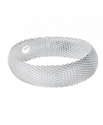 BODYA silver plated 20mm wide Italian Stardust Mesh Bracelet Bangles Strand cuff Bracelet For Women - CL17YZO4NH7