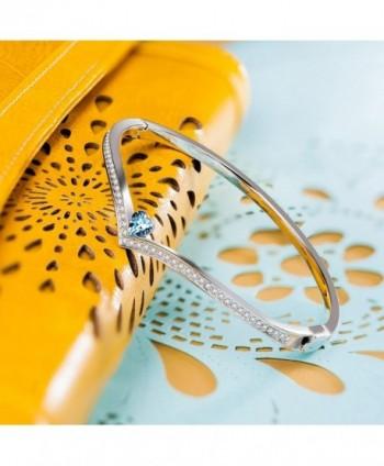 LadyColour Swarovski Bracelets Valentines Anniversary in Women's Bangle Bracelets