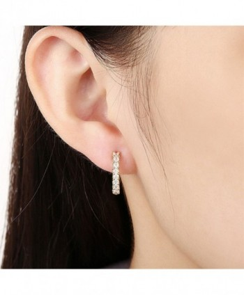 Stylish Jewelry Crystals Leverback Earrings