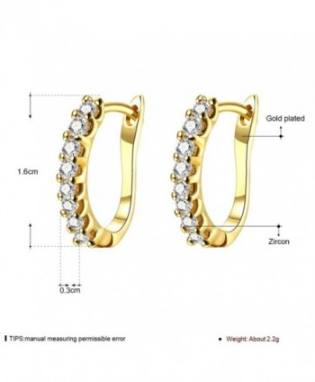 Stylish Jewelry Crystals Leverback Earrings in Women's Stud Earrings