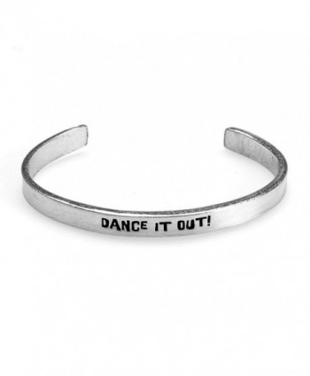 Women's Note To Self Inspirational Lead-Free Pewter Cuff Bracelet - Dance It Out - CG12978TEEF