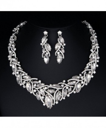 Youfir Elegant Austrian Necklace Earrings