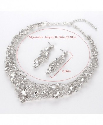Youfir Elegant Austrian Necklace Earrings in Women's Jewelry Sets