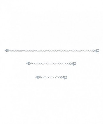 "Sterling Silver Pendant Necklace Bracelet Anklet Chain Extender Set- 1"" 2"" and 4"" - C212LJRT573"