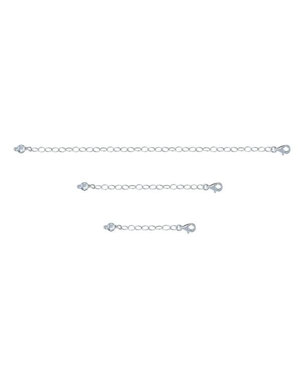 """Sterling Silver Pendant Necklace Bracelet Anklet Chain Extender Set- 1"""" 2"""" and 4"""" - C212LJRT573"""