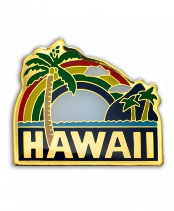 KC Hawaii Lapel or Hat Pin Palm Tree Green- Yellow One Size - CH11H42RGRJ