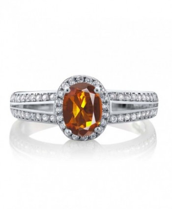 Orange Madeira Citrine Gemstone Sterling