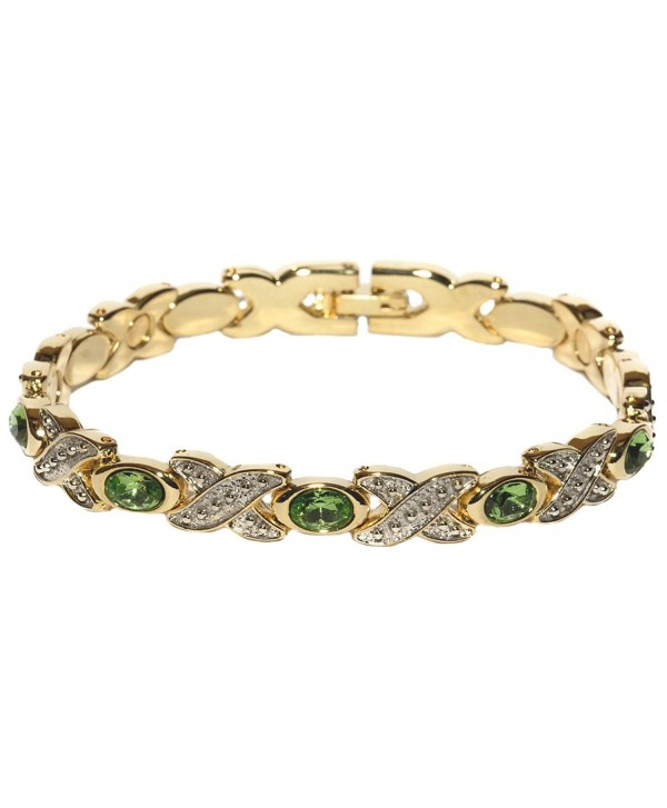 Simulated Peridot - Magnetic Therapy Bracelet Braclet - C81170TFN3F