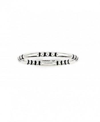 Plain Silver Decorated Stackable Sterling