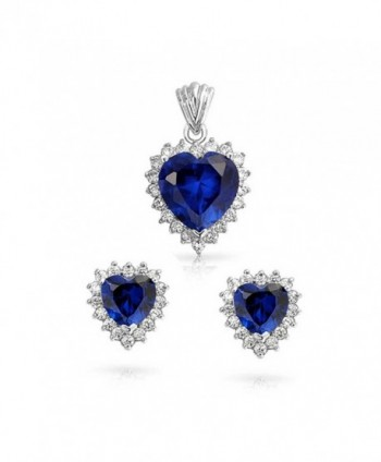 Bling Jewelry Sapphire Pendant Necklace
