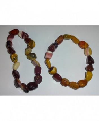 Mookaite Premium Quality Gemstone Bracelet in Women's Stretch Bracelets