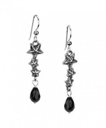 American West Sterling Silver Black Agate Triple Star Earrings - CP12NA1NS4S