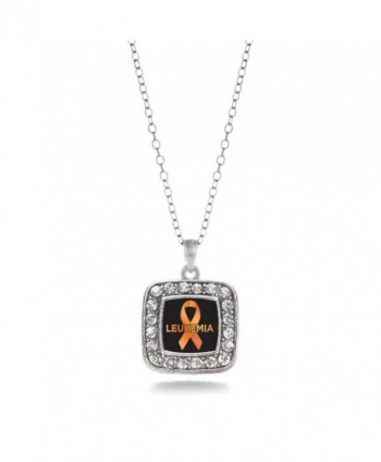 Leukemia Awareness Classic Silver Necklace
