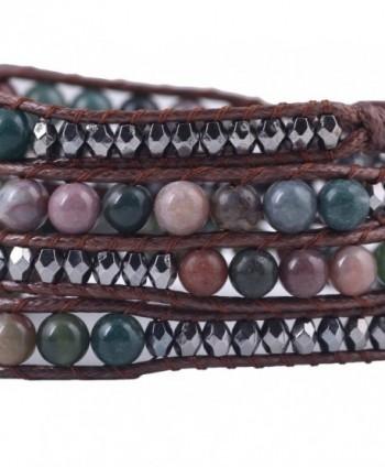 Bonnie Crystal Leather Bracelet Flower in Women's Strand Bracelets