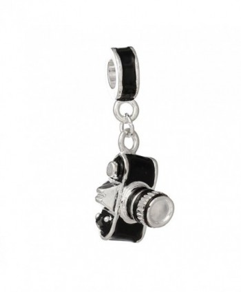 Photographer Camera Dangle Charm Bead for Snake Chain Charm Bracelets - C912108IXZB