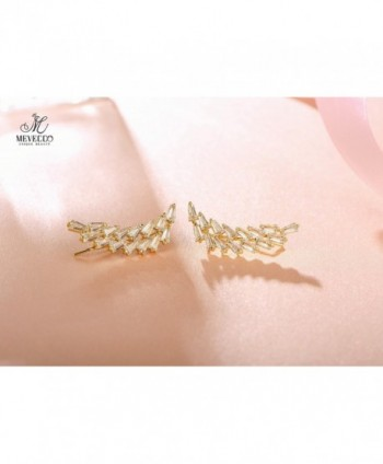 Mevecco Crawler Climber Earrings Jewelry 14 Gold