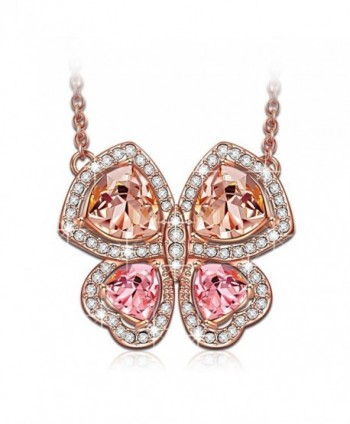 "LadyColour ""Butterfly Fairy"" Pendant Necklace- Made With Swarovski Crystals - CA12G7WYFT3"