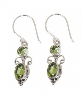 NOVICA Peridot and .925 Sterling Silver Dangle Earrings- 'Crown Princess' (1.1cttw) - CB1123QRDN3