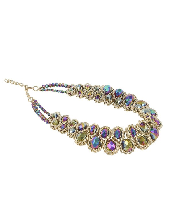 ShoppeWatch Statement Necklace GoldTone Gargantillas - Rainbow - CE11MAEQADF
