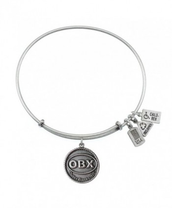 Wind & Fire Outer Banks Silver Finish Charm Bangle - CA12CDTDPKJ