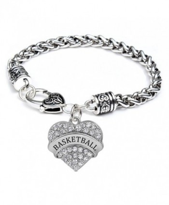 Godyce Heart Charm Bracelet Nana Best Friend Soccer Basketball Grandma Dream Volleyball Aunt - CK12DB0TGHP