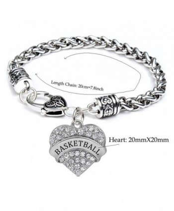Basketball Gifts Heart Bracelet Women