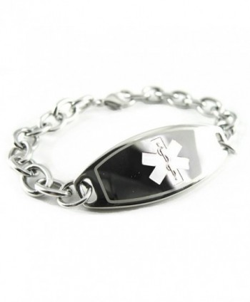 MyIDDr - Pre-Engraved & Customized Bariatric Surgery Medical Bracelet- Wallet Card Incld - C611CMUKCQF