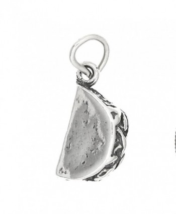 Sterling Silver Oxidized Three Dimensional Taco Charm - C4115XTP06T