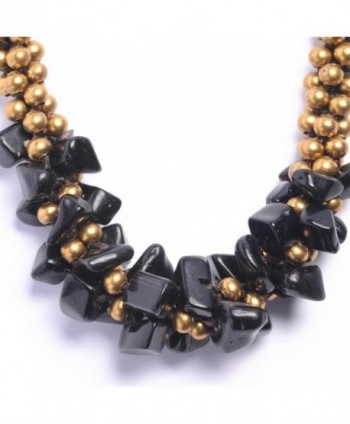 81stgeneration Womens Brass Simulated Necklace