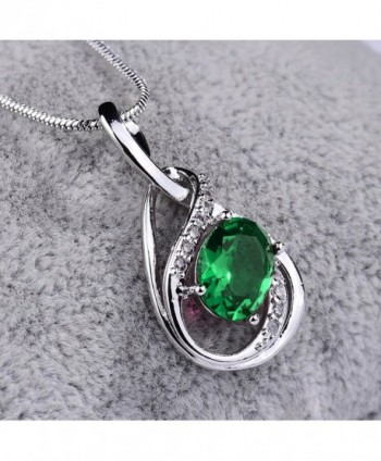 GUICX Emerald Zirconia Necklaces Pendant