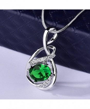 GUICX Emerald Zirconia Necklaces Pendant in Women's Pendants