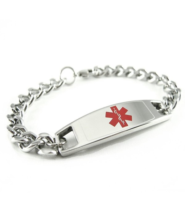 MyIDDr - Pre-Engraved & Customizable Pacemaker Medical Bracelet- Medic ID Card Incld - C511CKF2J4Z