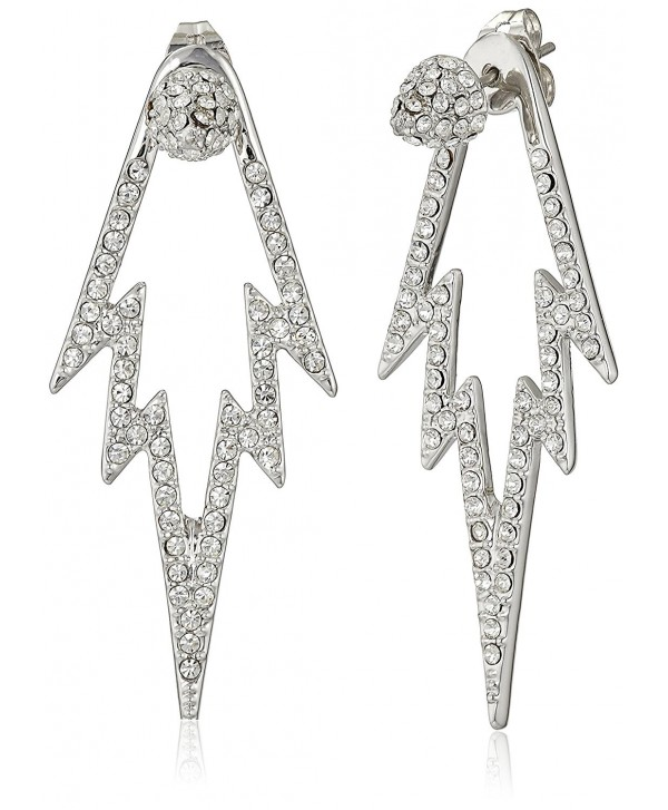 CC Skye The Crystal Pop Double Sided Drop Earrings - Silver - C91282QFWW1