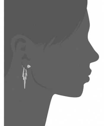 CC Crystal Silver Double Earrings