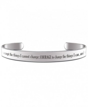 God Grant Me the Serenity to Accept the Things I can not Change Prayer Cuff Bracelet - CO12O9AY38V